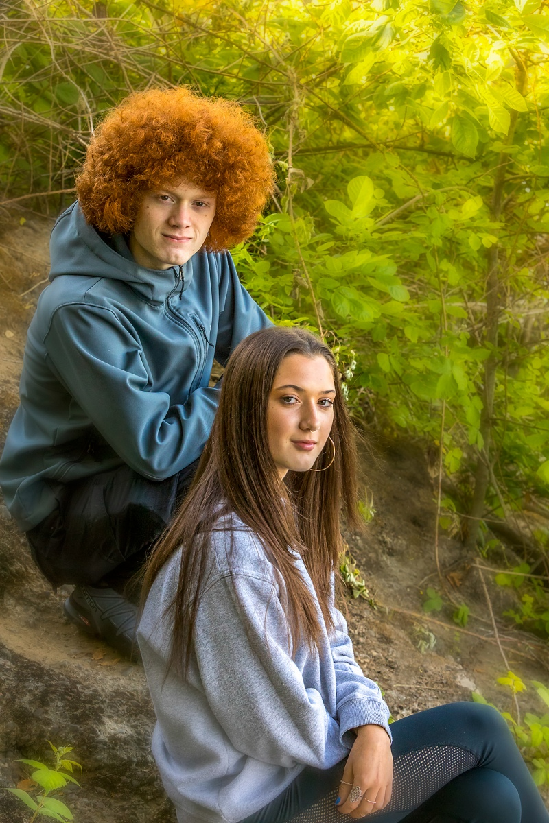 Sibling Environmental Portrait
