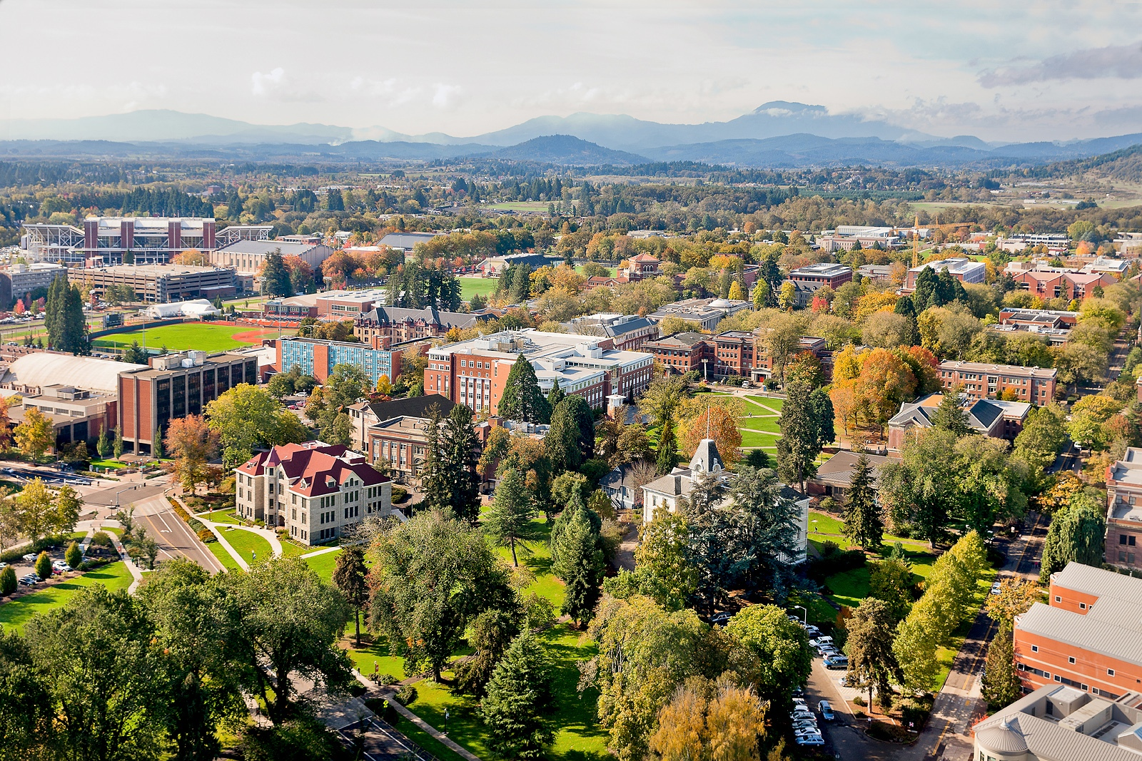 OSU Aerial Corvallis College Town